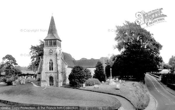 Photo of Wickham, St Nicholas'  Church 1969