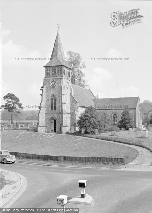 Photo of Wickham, St Nicholas Parish Church 1957
