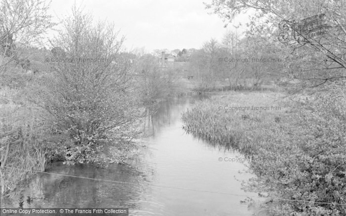 Photo of Wickham, The River Meon 1957