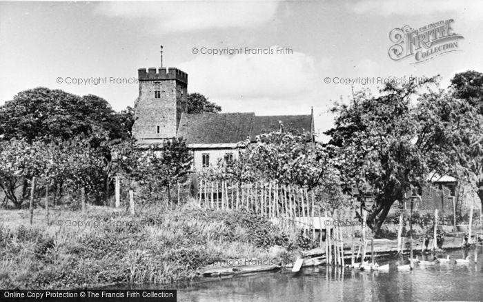 Photo of Wickhambreaux, St Andrew's Church c.1955