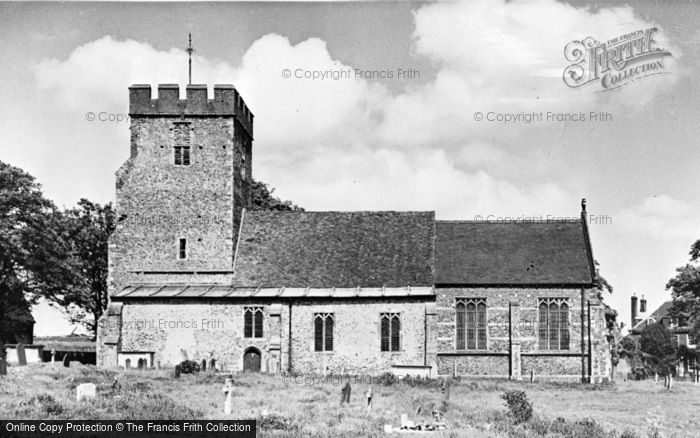 Photo of Wickhambreaux, St Andrew's Church c.1955