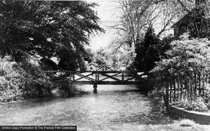 Photo of Wickhambreaux, The Lesser Stour c.1955
