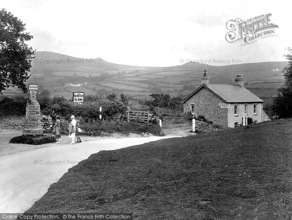 Widecombe-In-The-Moor, at the Village Sign 1927