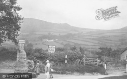 At The Village Sign 1927, Widecombe In The Moor