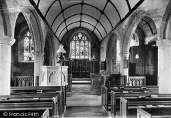 Church Interior 1907, Widecombe In The Moor
