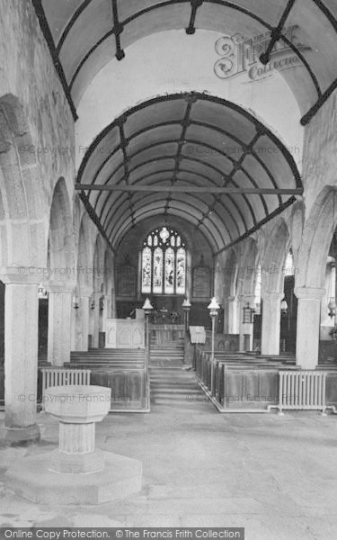 Photo of Widecombe In The Moor, Church Interior 1927