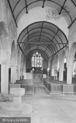 Church Interior 1927, Widecombe In The Moor