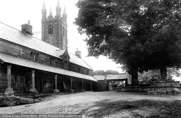 Photo of Widecombe In The Moor, Church Of St Pancras And Almshouses 1907