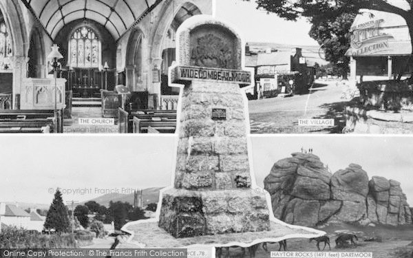 Photo of Widecombe In The Moor, Composite c.1960