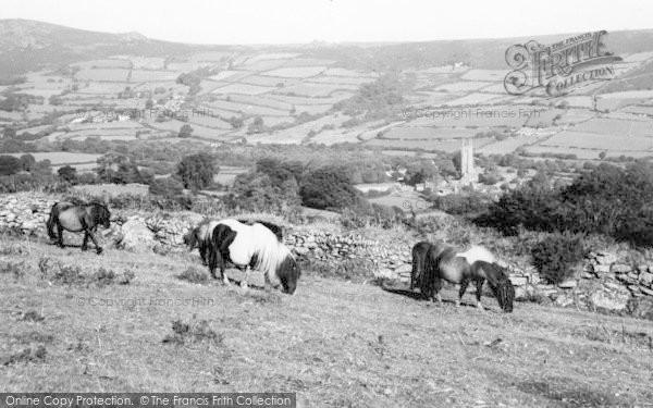 Photo of Widecombe In The Moor, Dartmoor Ponies c.1960