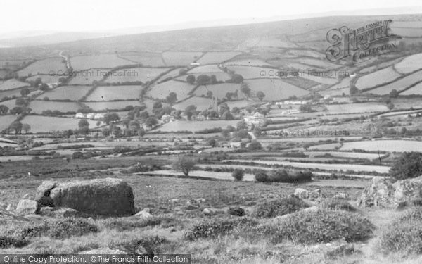 Photo of Widecombe In The Moor, From The Moors c.1955