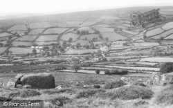 Widecombe In The Moor, From The Moors c.1955