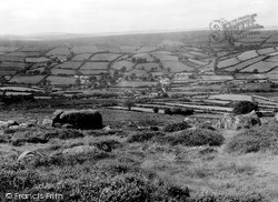 Widecombe In The Moor, From The Moors c.1965