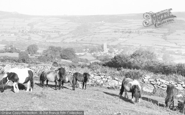 Photo of Widecombe In The Moor, Ponies c.1960