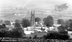 Widecombe In The Moor, The Church Of St Pancras And The Village 1927