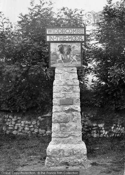 Photo of Widecombe In The Moor, The Village Sign 1922