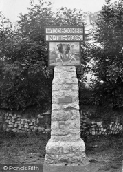 The Village Sign 1922, Widecombe In The Moor