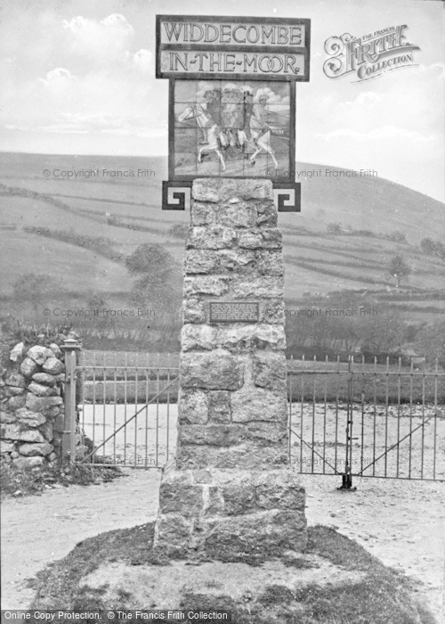 Photo of Widecombe In The Moor, The Village Sign c.1930