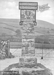 Widecombe In The Moor, The Village Sign c.1930