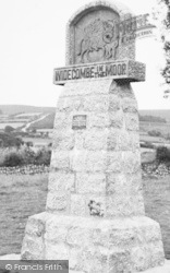 Widecombe In The Moor, The Village Sign c.1955