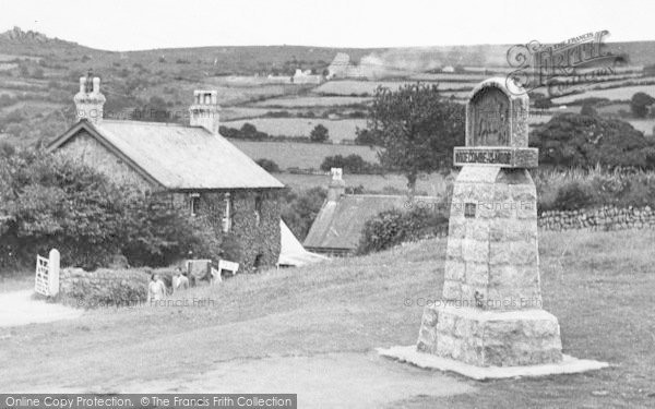 Photo of Widecombe In The Moor, The Village Sign c.1955