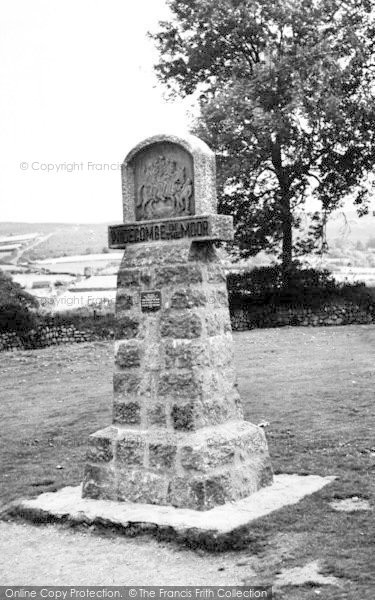 Photo of Widecombe In The Moor, The Village Sign c.1960