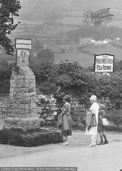 Photo of Widecombe In The Moor, Viewing The Village Sign 1927