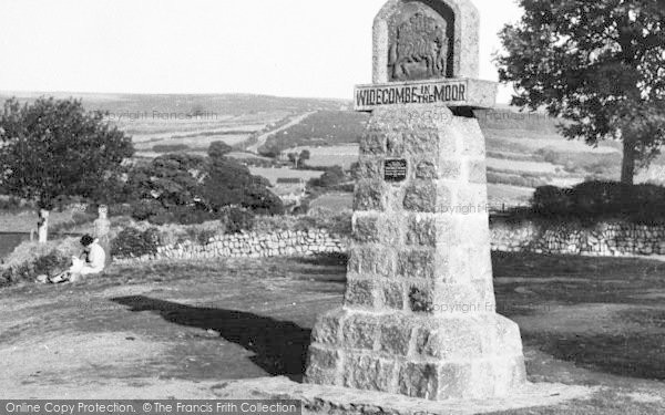 Photo of Widecombe In The Moor, Village Sign c.1960