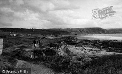 Widemouth Bay, View From The Cliff Path c.1955