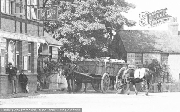 Photo of Widford, Delivery Cart At The White Horse 1906