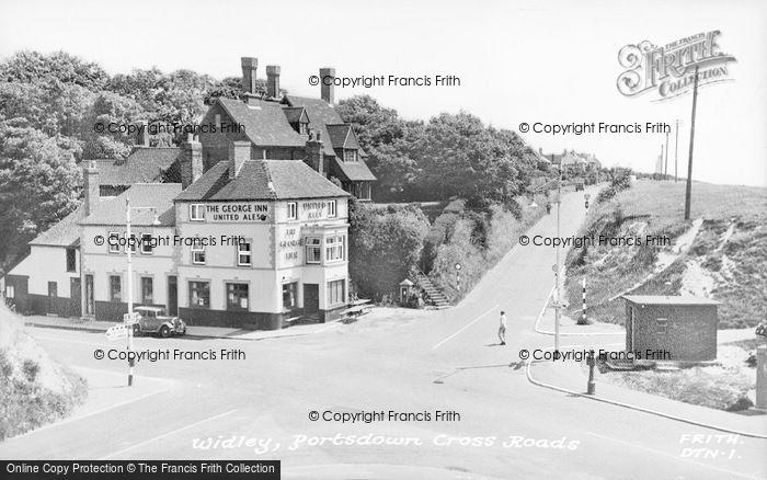 Photo of Widley, Portsdown Cross Roads c.1955