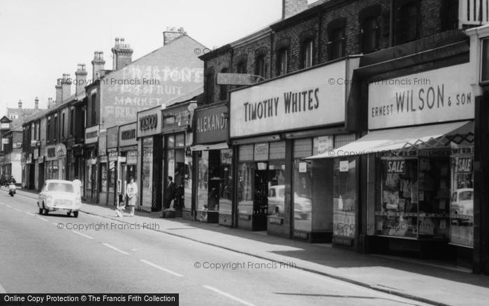 Photo of Widnes, Albert Road Shops c.1960