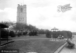 Widnes, Church And Church Gardens 1923