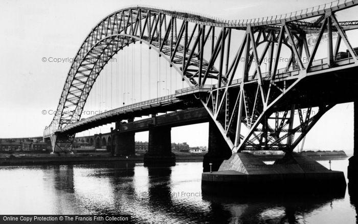 Photo of Widnes, High Level Road Bridge c.1965