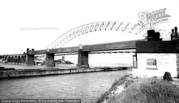 Photo of Widnes, Runcorn Bridge c.1965