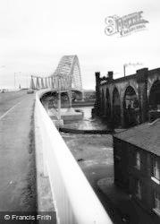 Widnes, Runcorn-Widnes Bridge c.1960
