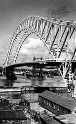 Widnes, Runcorn-Widnes Bridge c.1961