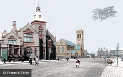 Widnes, St Paul's Church And Free Library 1908
