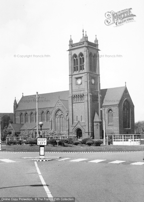 Photo of Widnes, St Paul's Parish Church c.1960