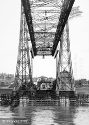 Widnes, The Transporter Bridge c.1955