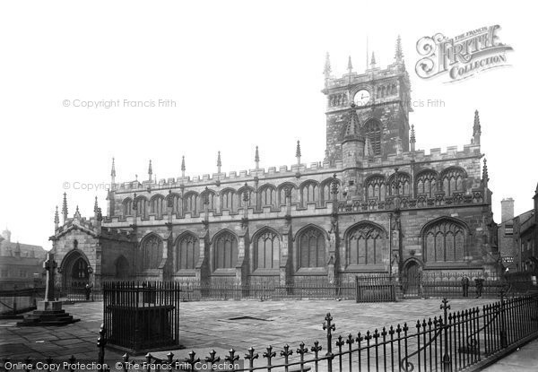 Photo of Wigan, All Saints Church From The South Side 1895