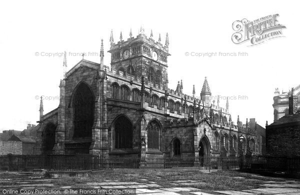 Photo of Wigan, All Saints Church From The South West 1895