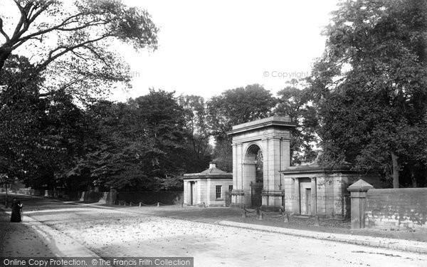 Wigan, Haigh Park, Entrance Gate 1895