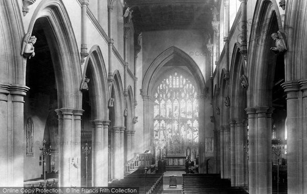 Photo of Wigan, Parish Church Interior 1897