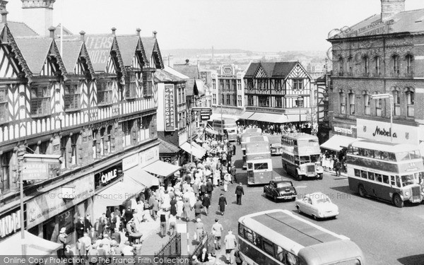 Wigan, the Market Place c1960