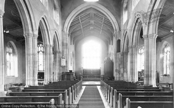 Photo of Wighton, All Saints Church, Interior c.1955