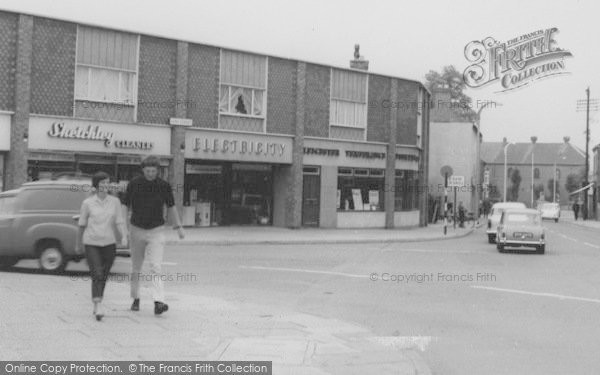 Photo of Wigston, A Couple In The Town Centre c.1965