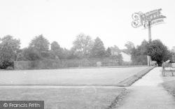 Wigston, Bowling Green, Peace Memorial Park c.1955
