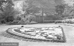 Wigston, Floral Garden, Peace Memorial Park c.1955
