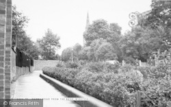 Wigston, Oadby Road From The Bank c.1955